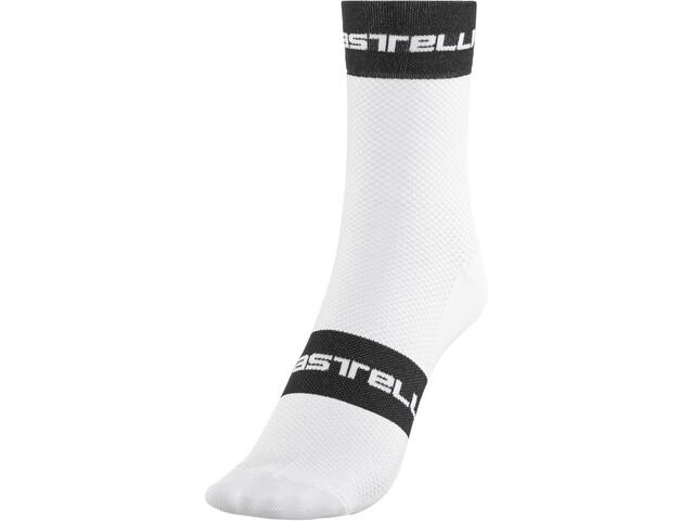 Castelli Free 9 Socks white/black/red